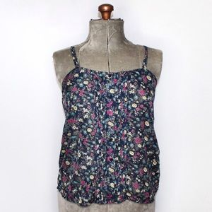 🎀3/$30 Mossimo Blue Sheer Floral Tank Blouse S